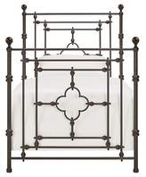 Inspire Q Kingsdale Quatrefoil Detail Metal Bed Twin -Dark Brown