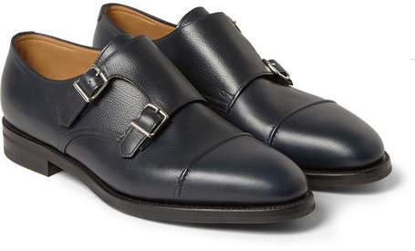John Lobb William II Full-Grain Leather Monk-Strap Shoes - Men - Navy