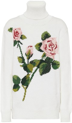 Dolce & Gabbana Floral wool-blend turtleneck sweater