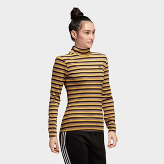 adidas Women's Striped Long-Sleeve T-Shirt