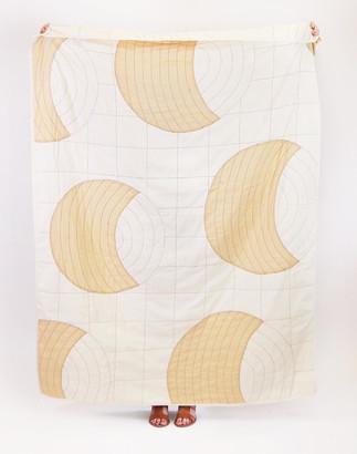 Madewell Anchal Organic Cotton Crescent Lattice Throw Blanket