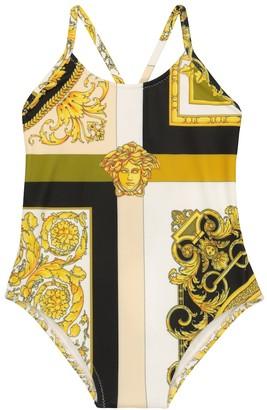 Versace Kids Baby Barocco Mosaic swimsuit