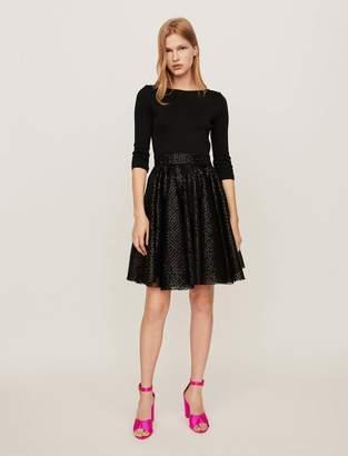 Maje Jersey and strass skater dress