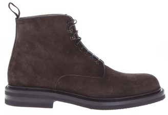 Green George Dark Brown Suede Ankle Boots