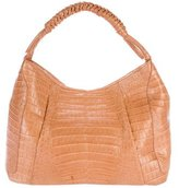 Nancy Gonzalez Braided Crocodile Hobo