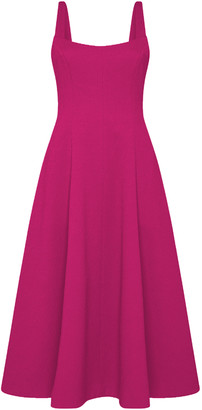 Rebecca Vallance Andie Textured Fit And Flare Midi Dress