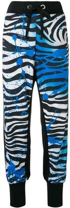 NO KA 'OI Zebra Print Track Trousers