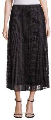 Lafayette 148 New York Dorothy Pleated Lace Skirt