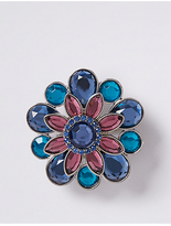 M&S Collection Sparkle Flower Brooch