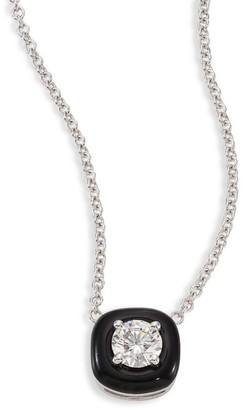 Nikos Koulis Oui Diamond, Enamel & 18K White Gold Pendant Necklace