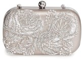 La Regale Floral Metallic Embroidered Clutch - Metallic