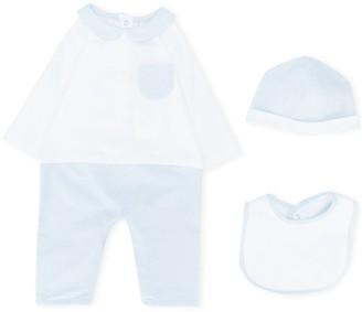 Fendi Kids FF three-piece babygrow set