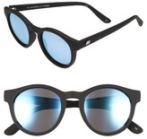 Le Specs Women's Hey Macarena 51Mm Polarized Retro Sunglasses - Black Rubber