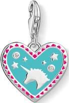 Thomas Sabo Sterling Silver Cubic Zirconia Charm Club Unicorn Heart