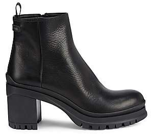 Prada Women's Lug-Sole Leather Ankle Boots