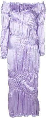 Yuhan Wang Ruched Satin Dress