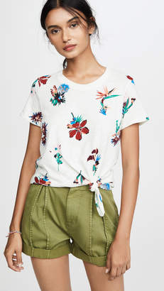 Madewell Rena Knot Front Tee