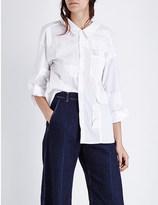 Miharayasuhiro Draped-back cotton shirt