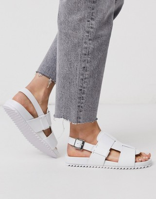 Grenson Willa white leather sandals