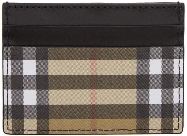 Burberry Black Vintage Check Card Holder