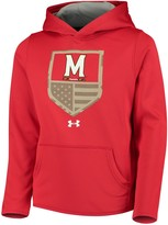 Under Armour Youth Red Maryland Terrapins Military Appreciation Performance Pullover Hoodie