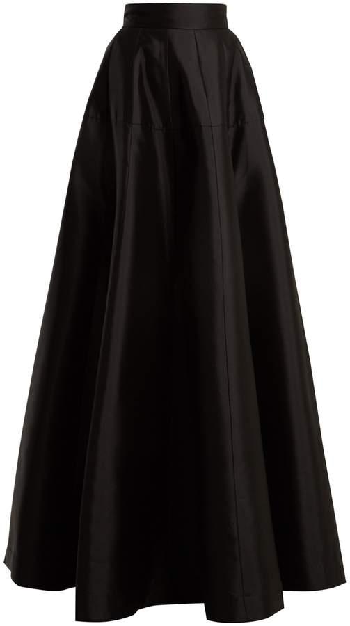 Amanda Wakeley Atelier wool-blend satin maxi skirt