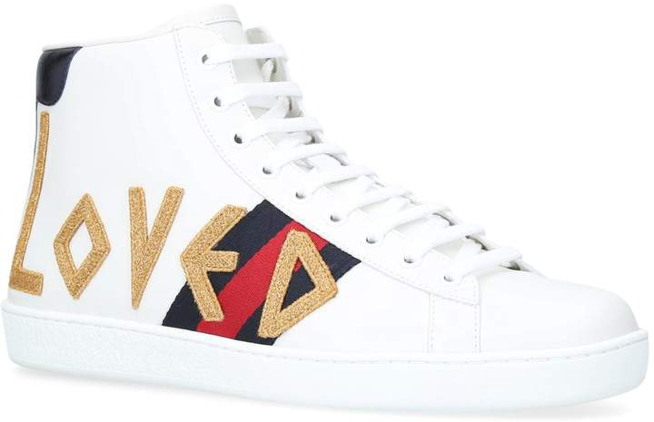 Gucci Loved New Ace High-Top Sneakers