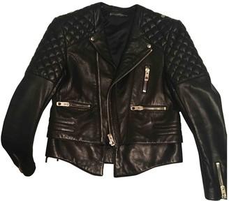 Balenciaga Black Leather Jackets