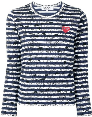 Comme des Garcons stripe-print long-sleeved T-shirt