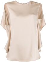 Stella McCartney open back draped blouse