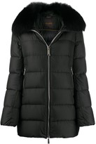 Thumbnail for your product : Moorer Faux-Fur Trim Padded Jacket