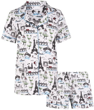 BedHead Sightseeing Short Sleeve Pyjama Set