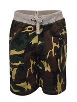 My Mix Trendz Men's Drawstring Camouflage Army Print Sport Gum Shorts with Pockets