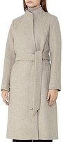 Reiss Elias Belted Wool-Blend Coat