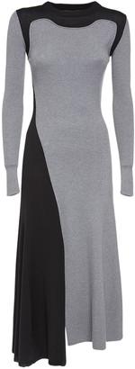 Alexander McQueen Wool & Cashmere Rib Knit Midi Dress