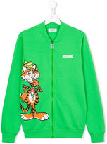 Moschino Kids tiger zipped up sweatshirt