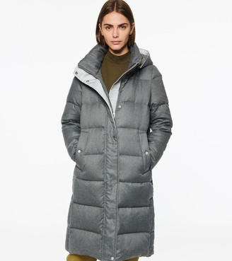 Andrew Marc Waldwick Long-Line Hooded Down Jacket
