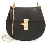 Chloé Small Drew Leather Shoulder Bag - Black