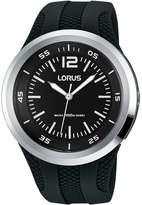 Lorus Women's 44mm Silicone Band Plastic Case Acrylic Crystal Quartz Analog Watch RRX17EX9