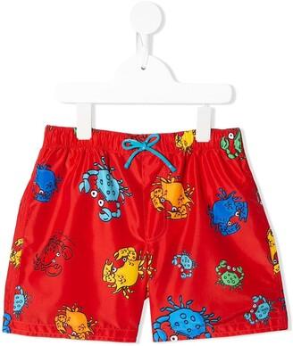 Dolce & Gabbana Kids Crab print swim shorts