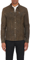 John Varvatos Men's Leather Shirt Jacket