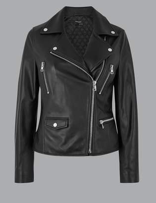 AutographMarks and Spencer Leather Biker Jacket