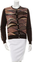 Salvatore Ferragamo Wool Printed Cardigan