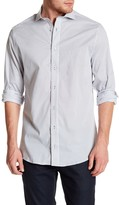 Nick Graham Polka Dot Trim Fit Dress Shirt