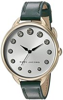 Marc Jacobs Women's Betty Green Leather Analog Quartz Casual Watch - MJ1477