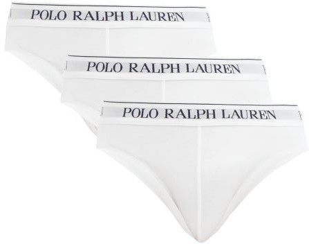 Polo Ralph Lauren Set Of 3 Logo Embroidered Briefs - Mens - White