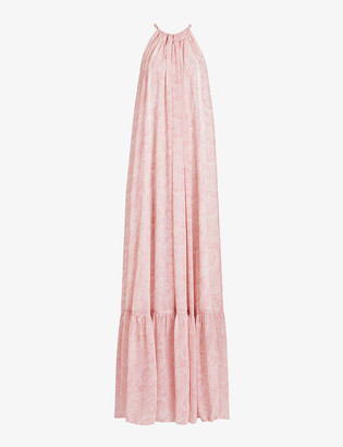 AllSaints Roma Shahmina paisley-print crepe maxi dress