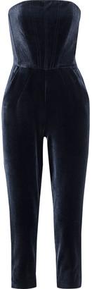 Nicholas Strapless Velvet Jumpsuit
