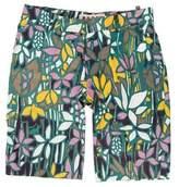 Marni Mid-Rise Floral Print Shorts