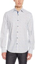 Stone Rose Men's Sneaker Print Long Sleeve Button Down Shirt, Multi